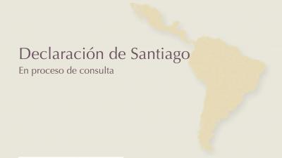 un mapa de america latina y el caribe en dorado