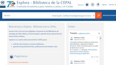 EXPLORA buscador de la Biblioteca CEPAL