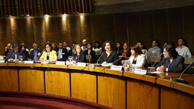 Cielo Morales, Directora del ILPES, y Heidi Berner, Subsecretaria de Evaluación Social de Chile, inauguraron el Congreso.