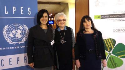 De izquierda a derecha, Yolanda Martínez (México), Ida Holz (Uruguay) y Patricia Silva (Chile).