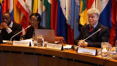 Panel de la reunión técnica del Programa Continuo de Comparación Internacional.