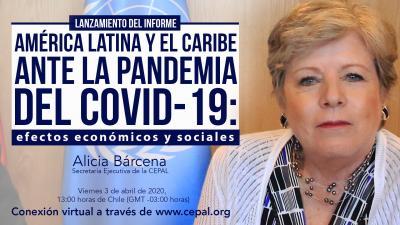 Invitación conferencia de prensa virtual Alicia Bárcena 3 de abril