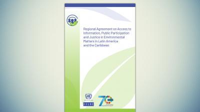 Cover of the Escazú Agreement