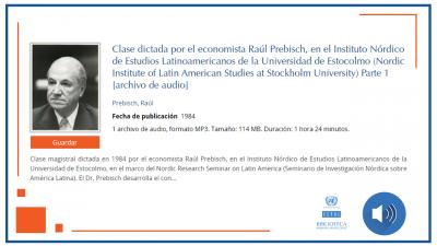Audios clase magistral Raul Prebisch