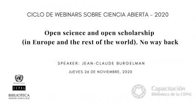 Webinar JC Burgelman en Ciclo Ciencia Abierta Biblioteca de la CEPAL