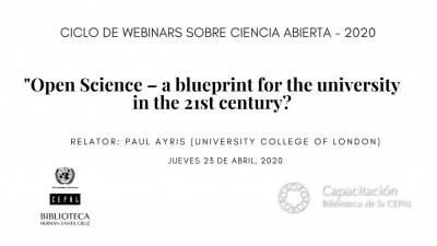 Webinar UCL Open Science – a blueprint for the university in the 21st century?