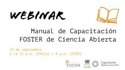 Webinar Manual Foster Ciencia Abierta