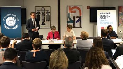 El Foro Político de Alto Nivel sobre el Desarrollo Sostenible se realiza en la sede de las Naciones Unidas en Nueva York.