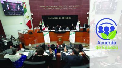 Foto del Senado mexicano y el Acuerdo de Escazú