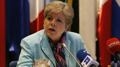 The Executive Secretary of ECLAC, Alicia Bárcena