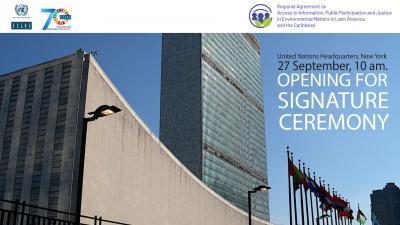 Banner firma Acuerdo de Escazú ENG