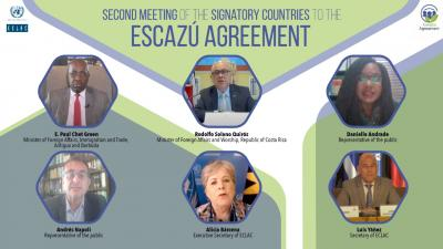 Opening session of the second meeting of the signatory countries of the Escazú Agreement