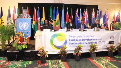 The Deputy Executive Secretary of ECLAC, Antonio Prado, opened the 26th session of the CDCC in Saint Kitts and Nevis.