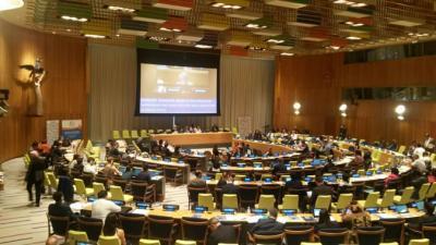foto del diálogo interactivo titulado Experiencias regionales que tuvo lugar en la sede de las Naciones Unidas en Nueva York.