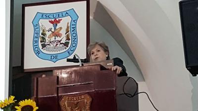 Alicia Bárcena, Secretaria Ejecutiva de la CEPAL, durante la presentación