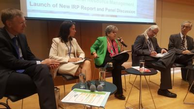 Alicia Bárcena durante la reunión del IRP en Nueva York