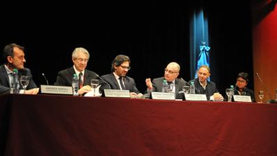 Ministros asistentes a la inauguración de la reunión en Buenos Aires