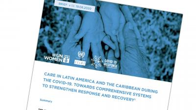 Cover ECLAC-UN Women joint document on Care in COVID-19