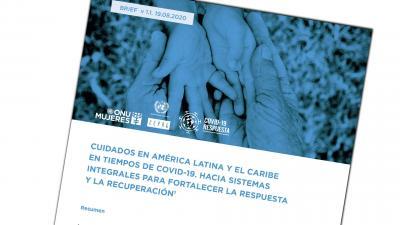 Portada documento CEPAL-ONU Mujeres sobre Cuidados en tiempos de COVID-19