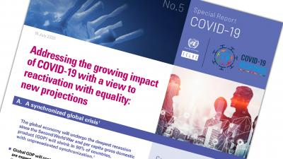 Cover ECLAC COVID-19 report No. 5