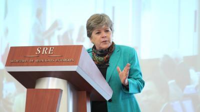 La Secretaria Ejecutiva de la CEPAL, Alicia Bárcena, durante su intervención en el encuentro.