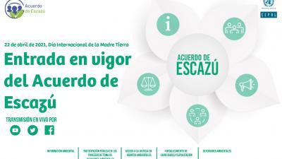 Imagen evento entrada en vigor del Acuerdo de Escazú