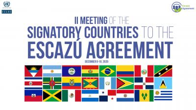 Banner second meeting signatory countries Escazú Agreement