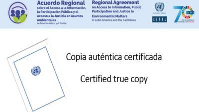 Banner copia auténtica Acuerdo Regional sobre Principio 10