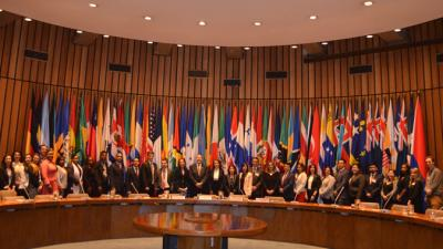 Group photo of the lawyers attending the course of International Law at ECLAC