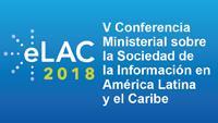 Imagen del logo de la Quinta Conferencia Ministerial sobre la Sociedad de la Información en América Latina y el Caribe
