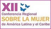 Imagen del banner de la XII Conferencia Regional sobre la Mujer de América Latina y el Caribe