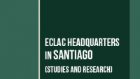Banner ECLAC headquarters in Santiago
