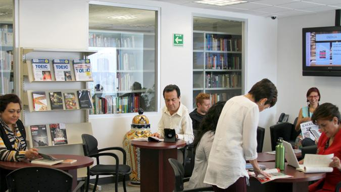 Photo of the Mexico Library reading room