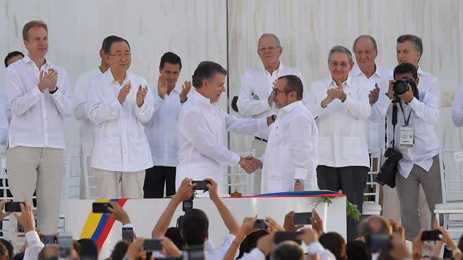 Signing of the peace agreement in Colombia
