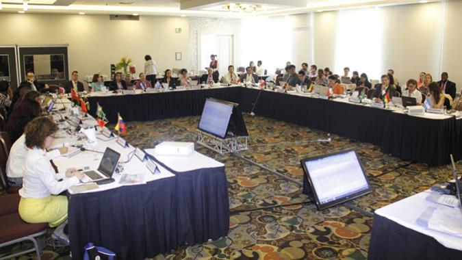 Foto delegados cuarta reunión Principio 10