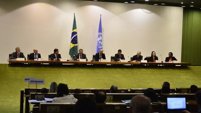 La reunión, que se prolongará hasta el viernes 24 de marzo, se realiza en la sede del Ministerio de Relaciones Exteriores de Brasil (Palacio de Itamaraty).