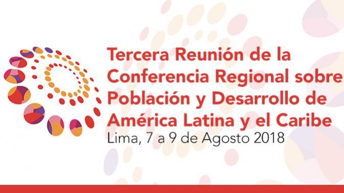Banner de la tercera reunión de la Conferencia Regional sobre Población y Desarrollo.