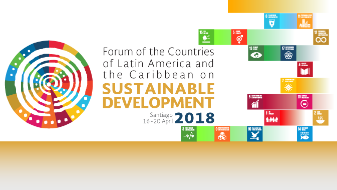 Banner second meeting Forum of the Countries of Latin America and the Caribbean on Sustainable Development