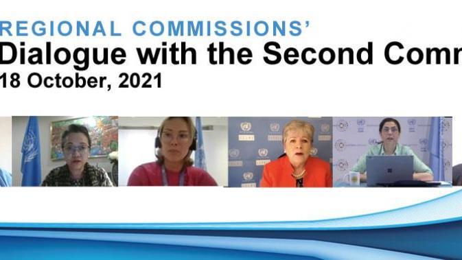 Banner con las 5 Secretarias Ejecutivas de las Comisiones Regionales de la ONU