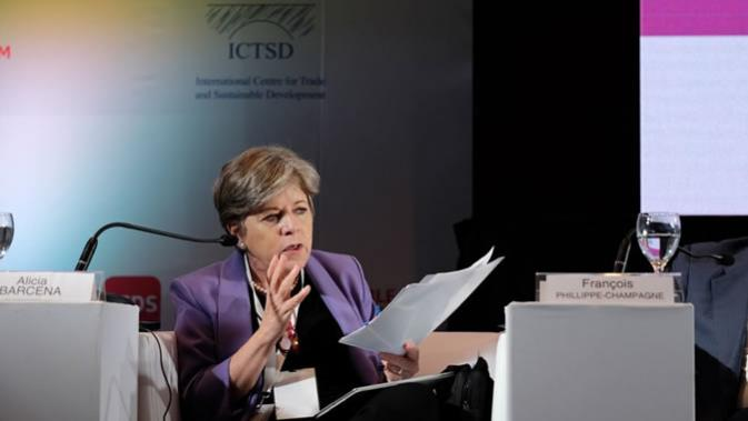 Alicia Bárcena, ECLAC's Executive Secretary, during the event Making Trade Work for Gender Equality: From Evidence to Action.