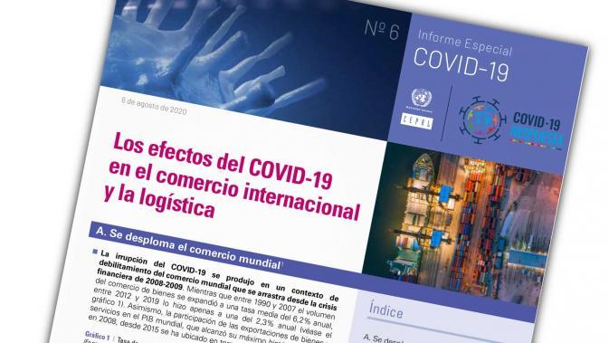 Portada Informe Especial COVID No. 6 comercio y logística