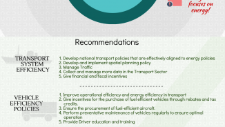 Energy efficiency in the transport sector