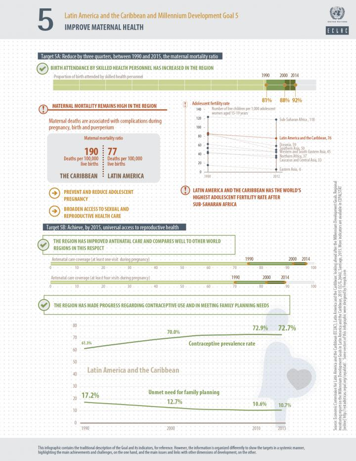 MDG 5 infographic