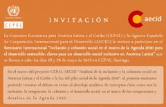 Seminario Internacional: Inclusión y cohesión social en el marco de la Agenda 2030 para el desarrollo sostenible