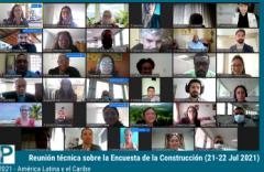 Participantes de la Reunión técnica sobre la Encuesta de la Construcción del PCI, ciclo 2021