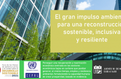El gran impulso para la sostenibilidad para una recuperación dinámica, inclusiva y resiliente