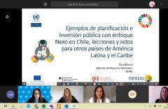 Seminario virtual Planificación de las inversiones públicas con enfoque Nexo Agua-Energía-Alimentación