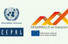 Logo de la CEPAL y Programa Desarrollo en transición de la Unión Europea