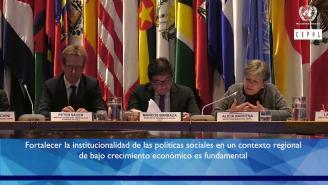 Inauguración seminario sobre protección social e institucionalidad