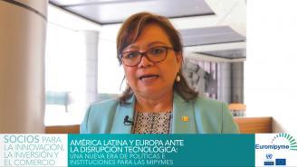 Seminario Euromipyme – Entrevista a Ileana Rogel, Directora Ejecutiva CONAMYPE, El Salvador.